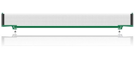 filet pour illustration vectorielle de tennis de table ping pong