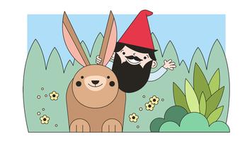 vecteur de gnome ride