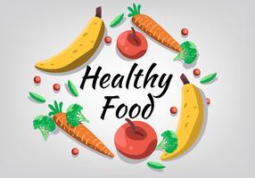Fruits et légumes comme aliments sains vecteur
