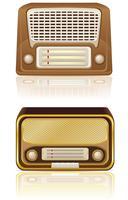illustration vectorielle de radio rétro vecteur