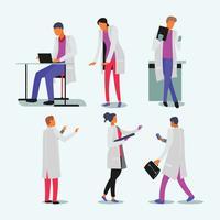Groupe de personnages de soins de santé personnes médicales ensemble vecteur