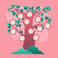 Vecteur de modèle d'arbre généalogique