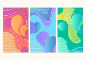 Arrière-plans de bannière colorée de vecteur