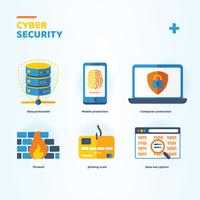 Cyber Security Icons Pack Vector