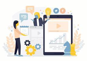 Illustration vectorielle de marketing en ligne