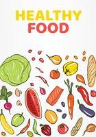 Conception de vecteur de nourriture saine