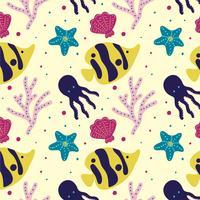 Vecteur de motif mer corail jaune