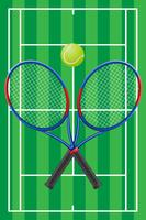 vecteur de tennis