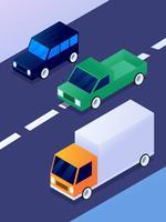 Amazing Isometric Transportation Clip Art Set vecteur
