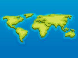 Belle carte internationale en 3D