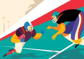 Joueur de football américain en action vecteur