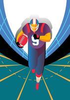 Illustration du joueur de football américain vecteur