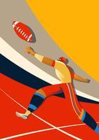Action du joueur de football américain vecteur
