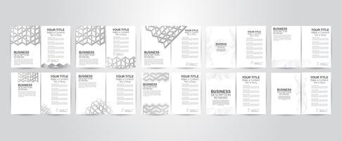 Ensemble de conception flyer avec structure de polygone et espace copie. Illustration vectorielle