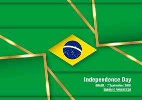 Illustration vectorielle pour la fête de l'indépendance du Brésil, le 7 septembre, pour le fond célébré. En portugais, cela s'appelle 'Dia da Independência'.