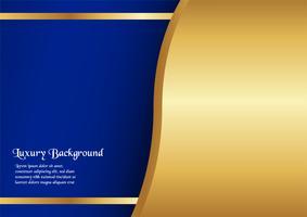 Abstrait bleu dans le concept premium avec bordure dorée. Modèle de conception pour la couverture, présentation de l'entreprise, bannière Web, faire-part de mariage et emballage de luxe.