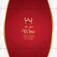Modèle d'emballage de luxe dans un style moderne pour la couverture du vin, boîte de bière. Illustration vectorielle dans le concept premium. EPS 10. vecteur