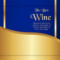 Modèle d'emballage de luxe dans un style moderne pour la couverture du vin, boîte de bière. Illustration vectorielle dans le concept premium. EPS 10.