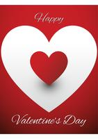 Vecteur de conception de carte de voeux Saint Valentin