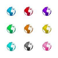 Vecteur de terre 3D multicolore