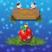 Vecteur de fond de voeux de Noël
