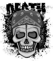 emblème agressif avec le crâne