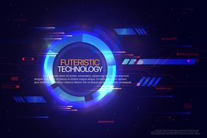 Fond de technologie abstraite. vecteur