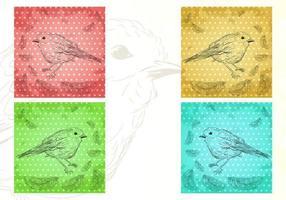 Paquet de papier peint aux oiseaux d'un paquet de plumes