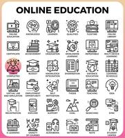 Éducation en ligne vecteur