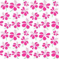 Modèle sans couture sur fond de fleurs tropicales. Illustrations vectorielles pour la conception d'emballages cadeaux.