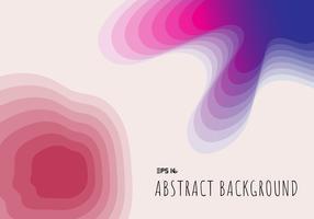 Papier 3D de topographie abstraite coupe géométrique avec dégradé sur fond bleu et rose et la texture. vecteur