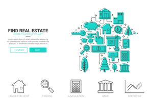 Concept immobilier vecteur