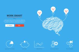 Travailler Smart Concept vecteur
