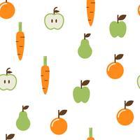 modèle sans couture de fruits vecteur