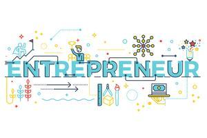 Lettrage de mot entrepreneur vecteur