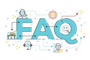 FAQ: Foire aux questions vecteur