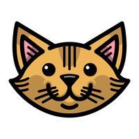 Mignon chat sympathique de dessin animé