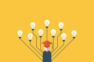 Illustration de concept de l'éducation vecteur