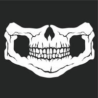 emblème agressif avec le crâne vecteur
