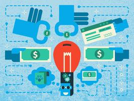 Financement participatif vecteur