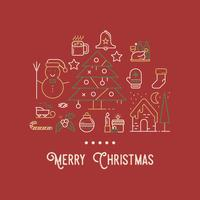 Carte de voeux de Noël vecteur