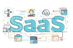 Illustration de mot SaaS vecteur