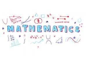 Illustration du mot mathématiques vecteur