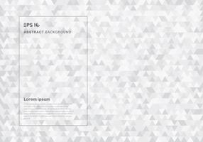 Triangles de hipster géométrique blanc abstrait et texture de fond. vecteur