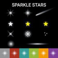 Effet étoiles scintillantes vecteur