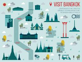 Visiter Bangkok vecteur