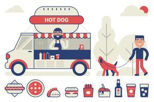 Concept de camion de nourriture vecteur