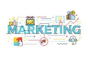 Mot marketing dans le concept d'entreprise