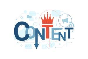 Typographie du mot contenu vecteur