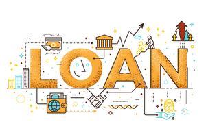 Illustration de prêt personnel vecteur